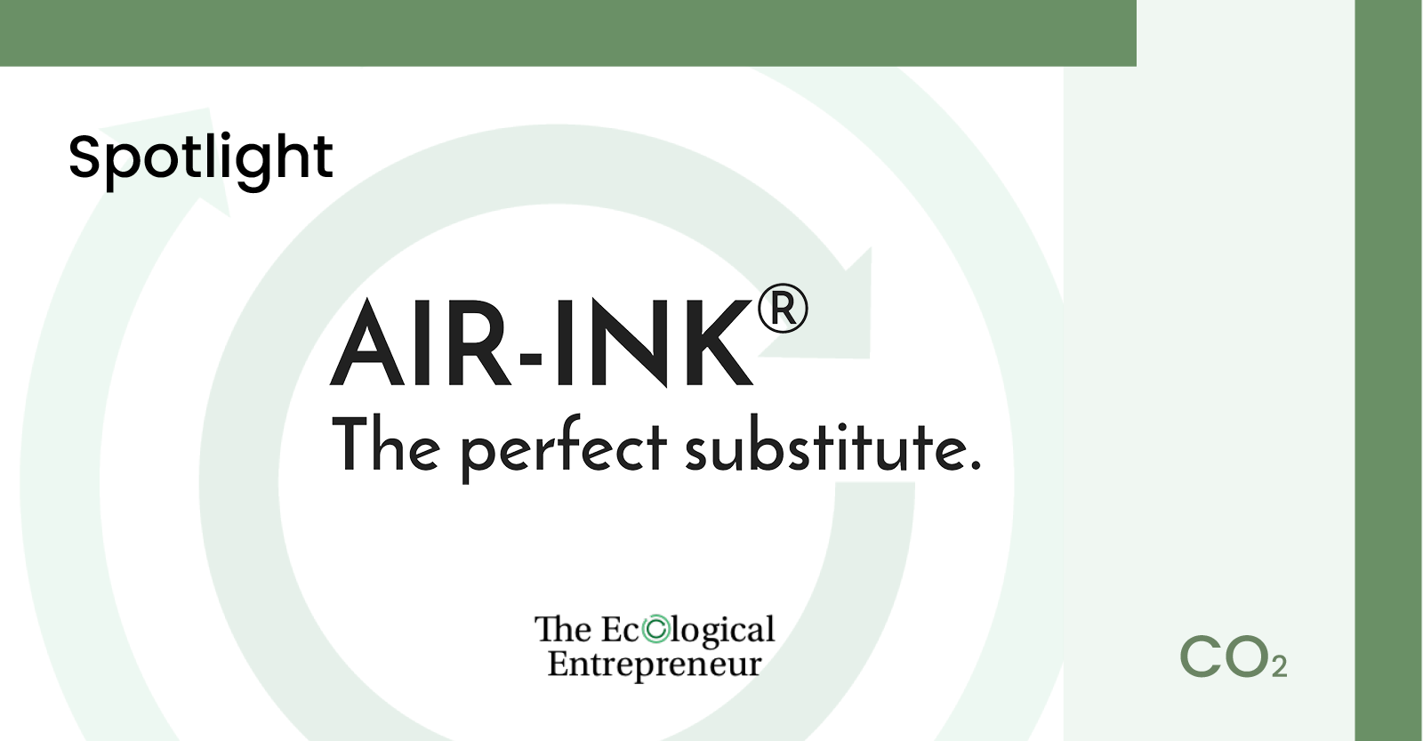 Air Ink Spotlight by the Ecological Entrepreneur